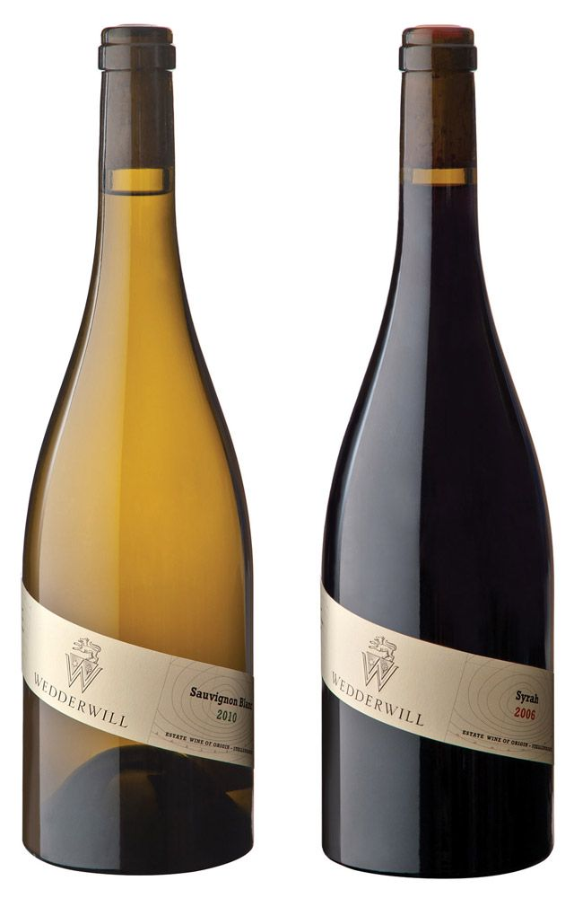 Beautifully crafted original wine labels for Wedderwill in the Western Cape, South Africa.