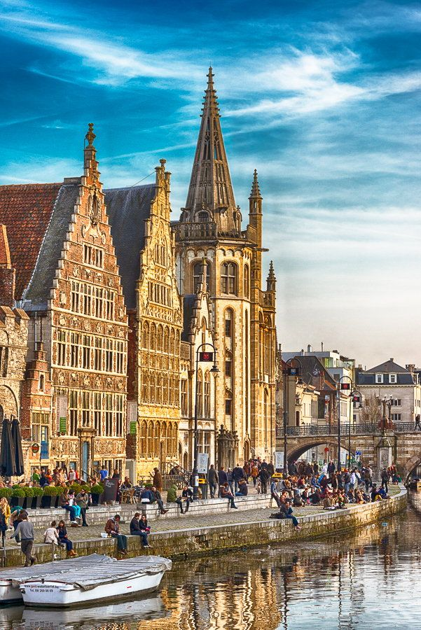 Evening in Ghent, Belgium
