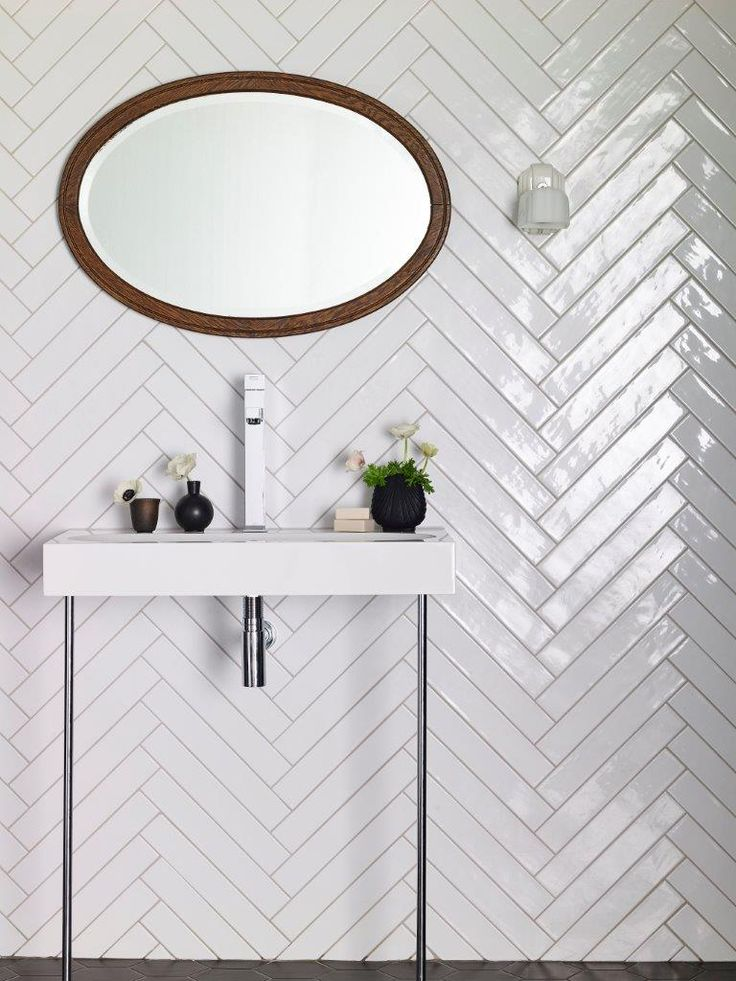 Monastir White Gloss tiles. New format which is perfect for herringbone! | Mandarin Stone