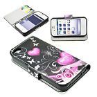 Stand Book Wallet Design Leather Phone Cover Case For Apple iPhone 4 4S 4G 4GS