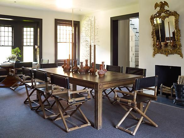 S.R. Gambrel placed directors chairs around dining room