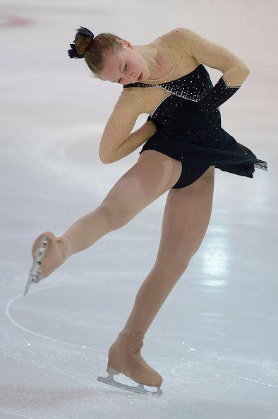 Anna Grace Davidson of the United States skates during the junior ladies short program of the ISU Junior Grand Prix of figure skating on September 10...