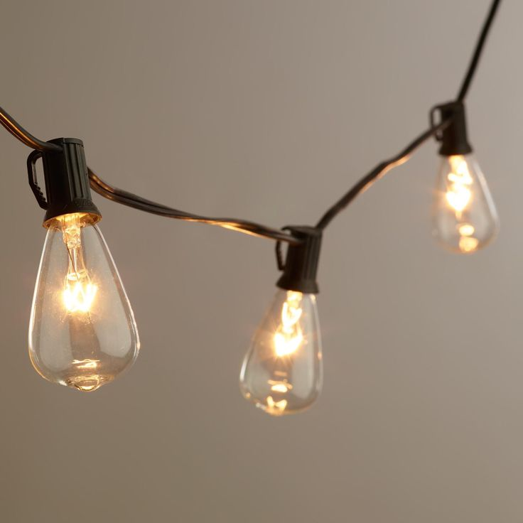 Edison Type String Lights : Edison-Style String Lights Glow, Warm and The balcony