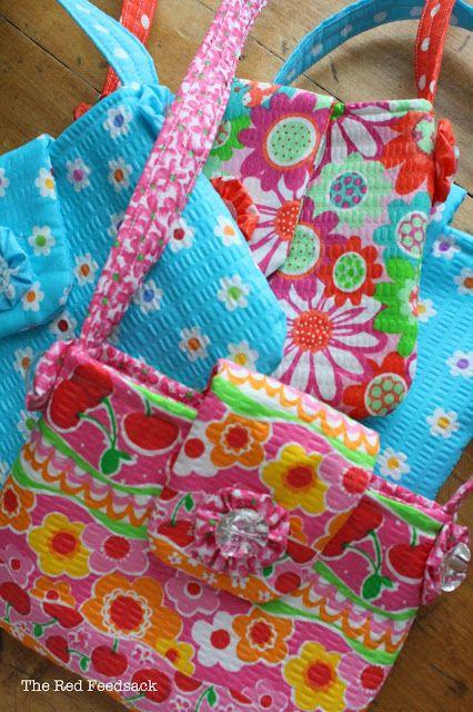 The Red Feedsack: Little Girl Spring Purses
