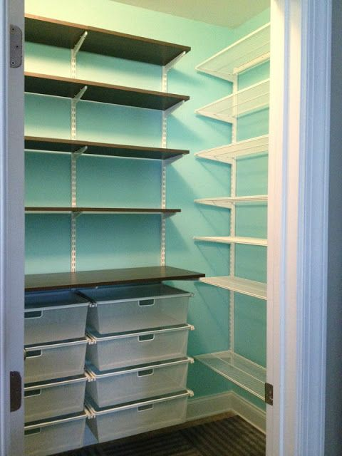 You could do this in the Playroom Closet!!!  It would store ALOT and free up space and the floor too.   My Container Store elfa Pantry – recreated!