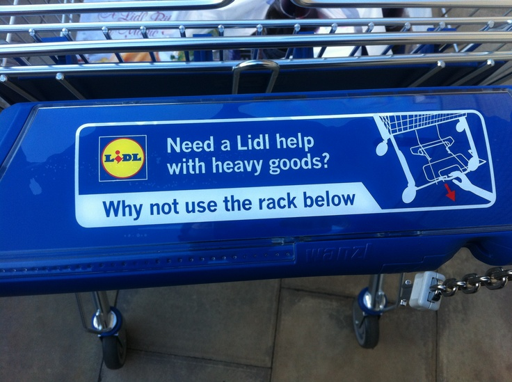 Shopping trolley messaging
