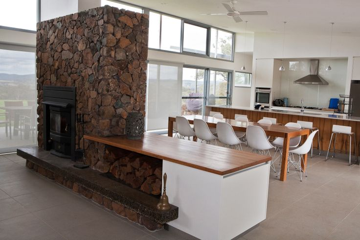 open plan living, dining and kitchen