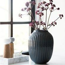 Kähler Hammershøi Vase Antracitgrå H250