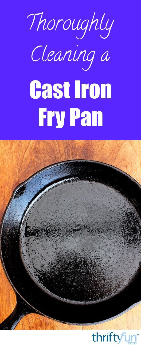 If your cast iron pan has food stuck to it, you may need to do a deep cleaning and then season it again. This is a guide about thoroughly cleaning a cast iron fry pan.