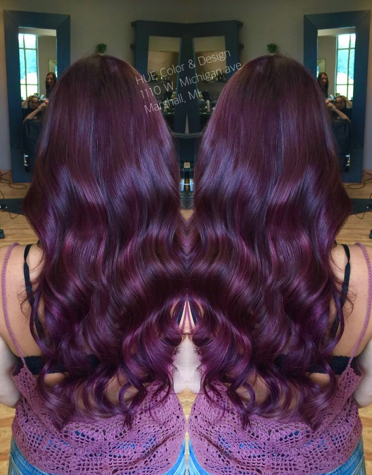 violet red hair color with matrix