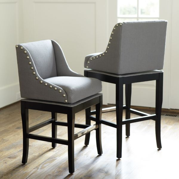 Marcello Counter Stool with Pewter Nail Head Trim - similar that I can recover