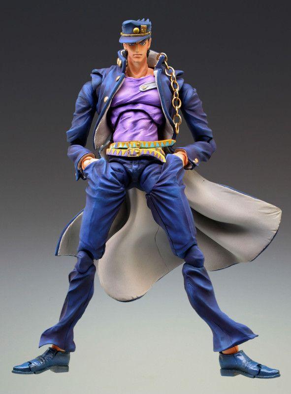 Crunchyroll - Store - Jotaro Kujo Second Jojo's Bizzare Adventure Super Action Statue Posable Figure