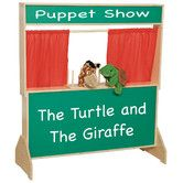 Found it at Wayfair - Natural Environment Puppet Theater with Brown Curtains