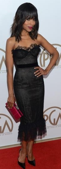 Kerry Washington in Marchesa at Producers Guild Awards 2013 ♥✤ | Keep the Glamour | BeStayBeautiful