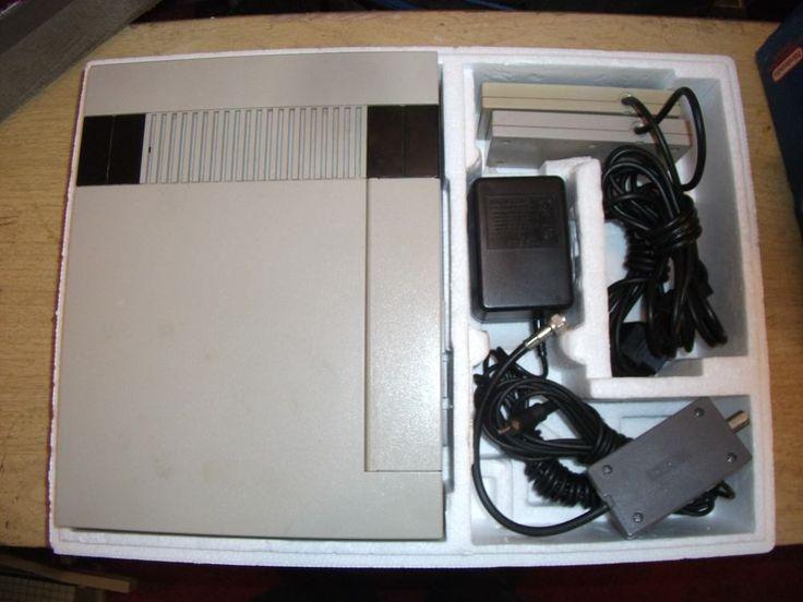 Original Nintendo NES Console System (COMPLETE IN BOX, CIB) AND 2 GAMES 1 CIB #Nintendo