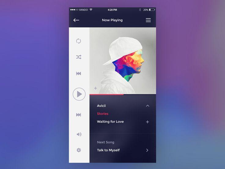 Music Player Inspiration — April 2017 – Collect UI – Medium