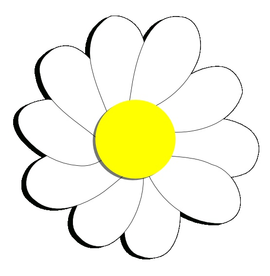 daisy flower 6 scalable vector graphics svg inkscape adobe