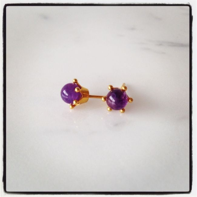 Crown Earrings with amethyst Price: 25€