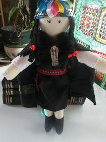 ** HECHO A MANO.CL ** ( en Chile).: Muñecos de trapo Mapuches y Huasos. Mapuche cloth doll