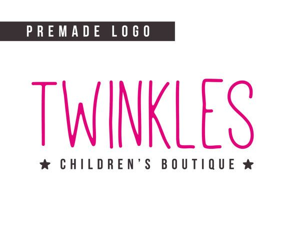 Premade Logo  children's boutique logo simple logo by HayahDesigns