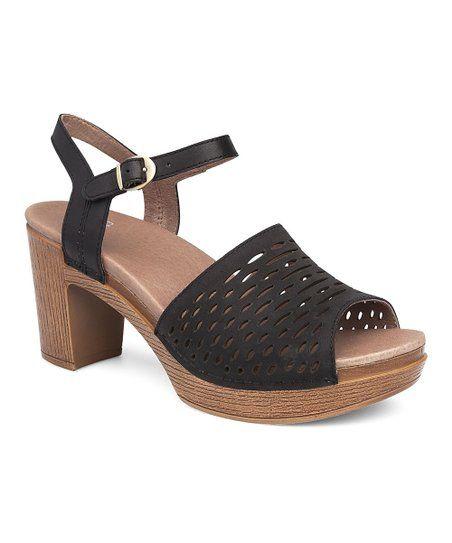a5f9f6b83a15 Dansko Black Denita Milled Nubuck Sandal - Women