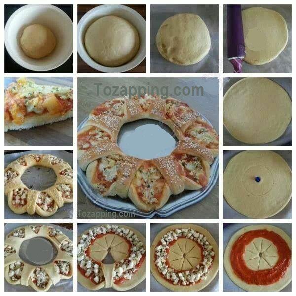 Receta Pizza Corona. Si se han cansado de esa misma pizza, intentar algo diferente para la cena o el almuerzo. Impresiona a tus invitados o entretener a los