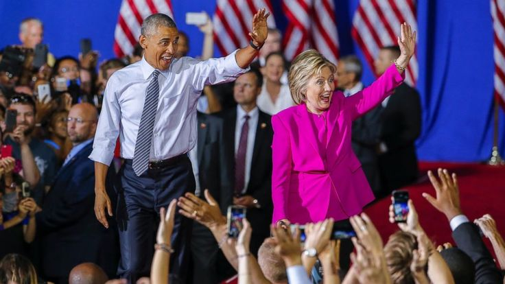 "'Fired Up' President Obama Stumps for Hillary Clinton -      A ""fired up"" President Barack Obama took the stage in North Carolina today to stump for his onetime political rival  Hillary Clinton  , being gre..."