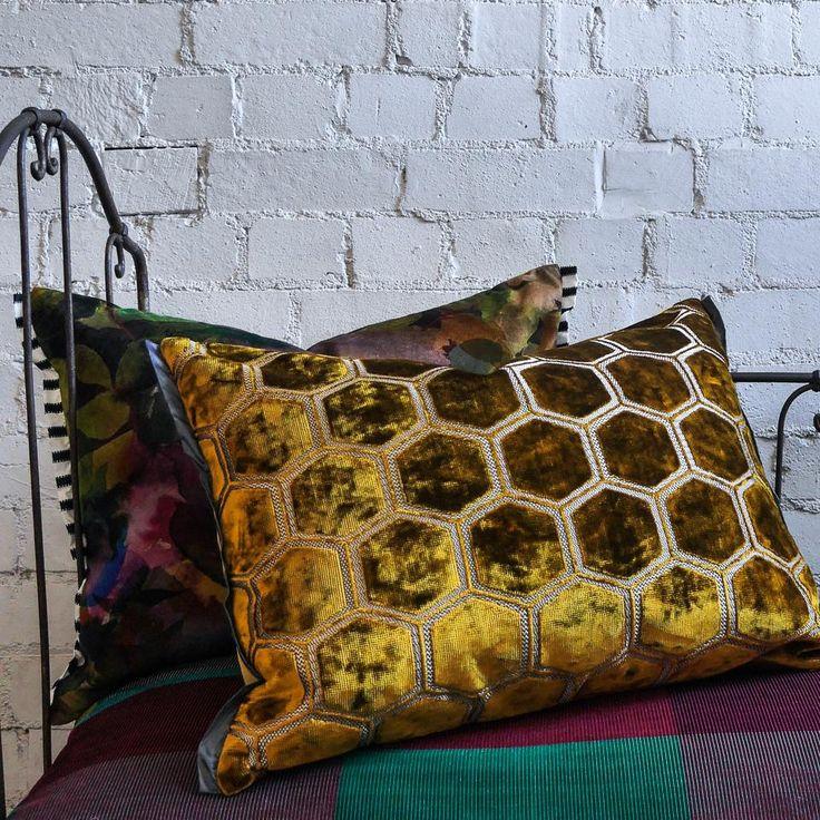 Designers Guild Manipur Ochre Cushion Small Acorns Buy