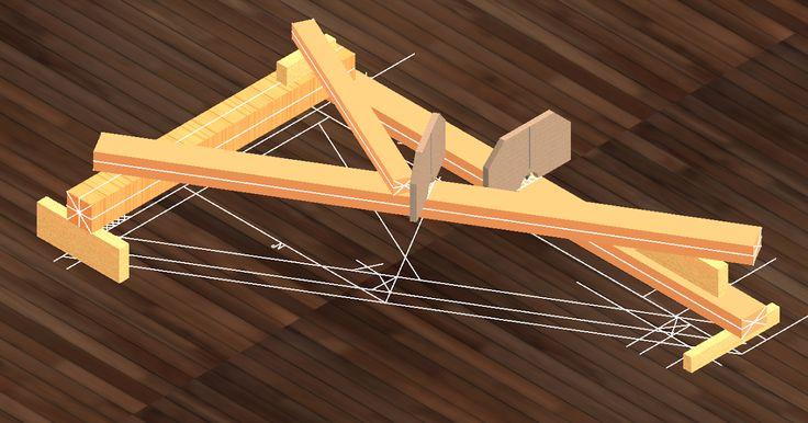 charpente traditionnelle; piquage; lignage; mise sur ligne; plomb à piquer