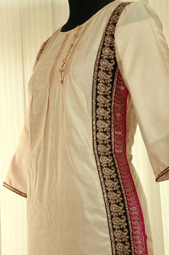 Pure Silk Embroidery Kurti