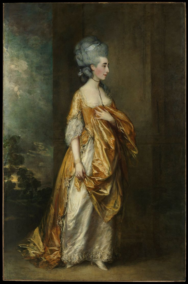 Thomas Gainsborough, Portrait of  Grace Dalrymple Elliott, exhibited at Academy in 1778, Oil on canvas, 234 x 153 cm (Met Museum)