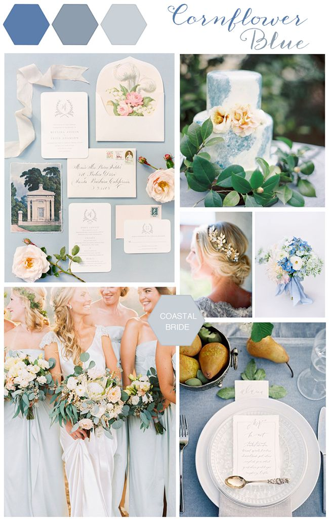 cornflower blue wedding decor details