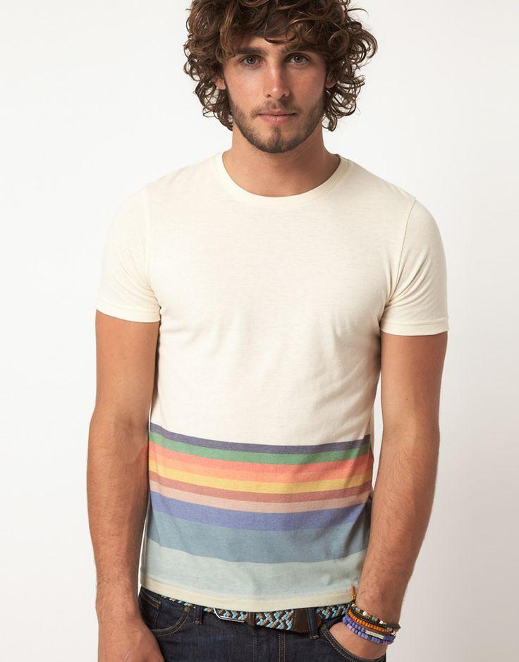 : Hemmings Stripes,  T-Shirt,  Tees Shirts, Jersey, Men Fashion, Men'S Fashion, Asos T Shirts, Colour Hemmings, Guys Hair