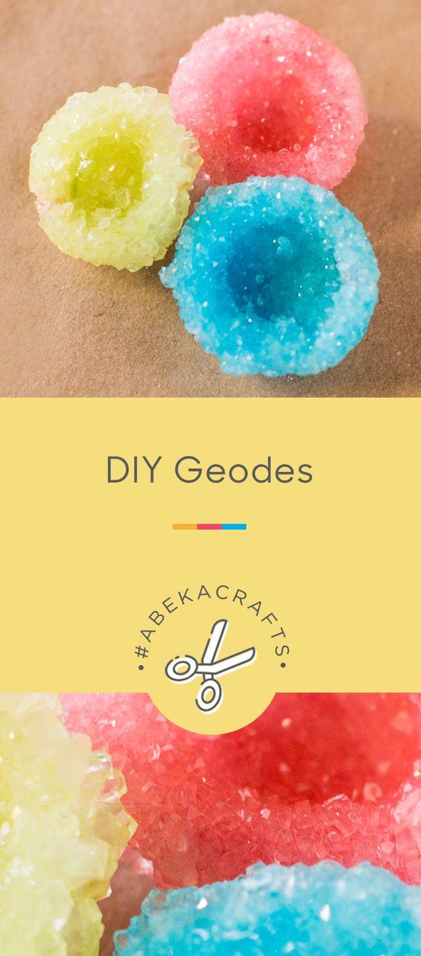 Geodes Craft Abeka Homeschool Crafts Crafts Abeka [ 1361 x 600 Pixel ]