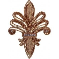 Glass Beaded Sequin Rhinestone Applique