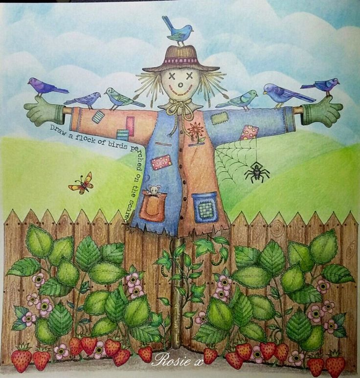 My Scarecrow From Secret Garden That I Finished Last Week