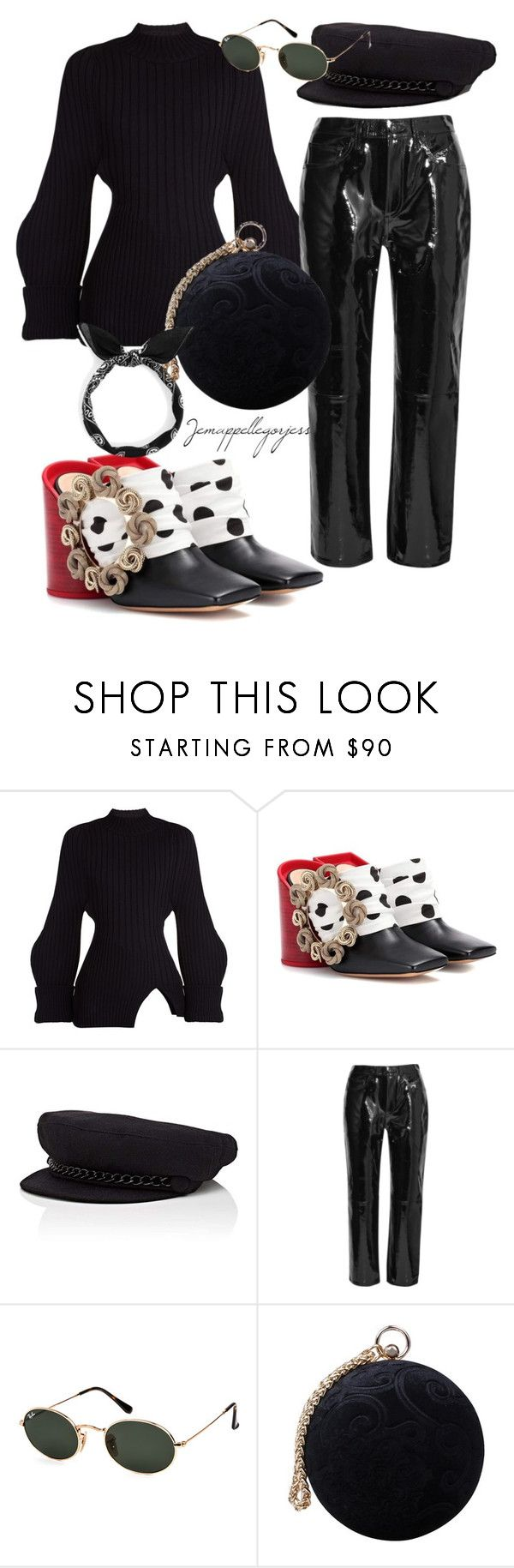 """""""Untitled #338"""" by gorjess24 on Polyvore featuring Jacquemus, Eugenia Kim, rag & bone, Ray-Ban and Carvela"""