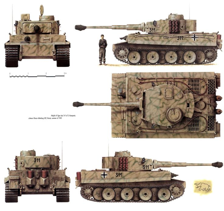 Картинки танка тигр со всех сторон