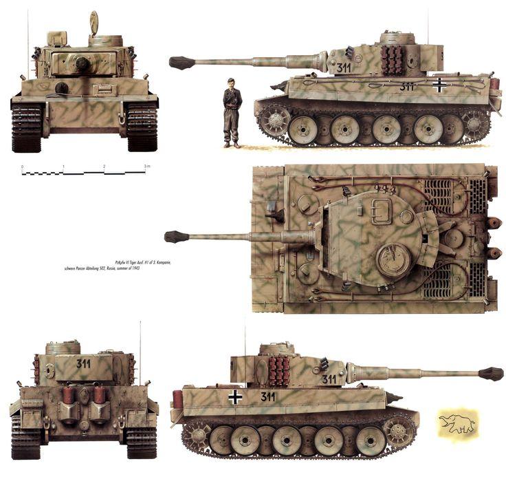 Tiger №311,3./s.Pz.Abt.502,july 1943
