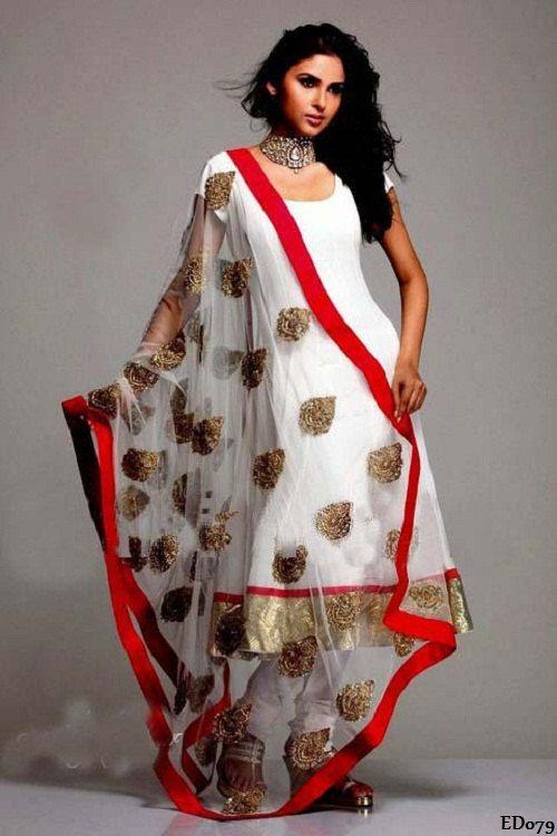 Morpankh Designer Anarkali Salwar Suit White Designer Hand Embroidery Engagement Anarkali Suit