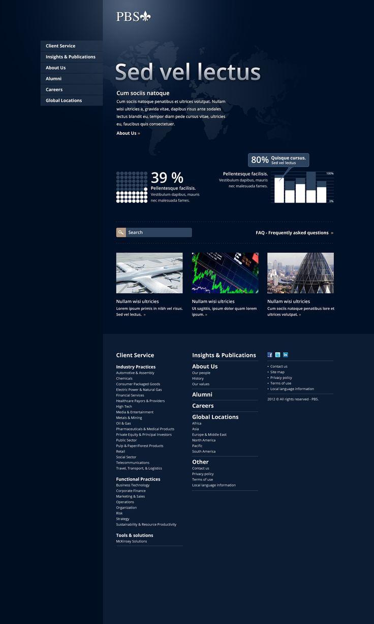 Projekt strony WWW dla firmy PBS. Koncepcja #2