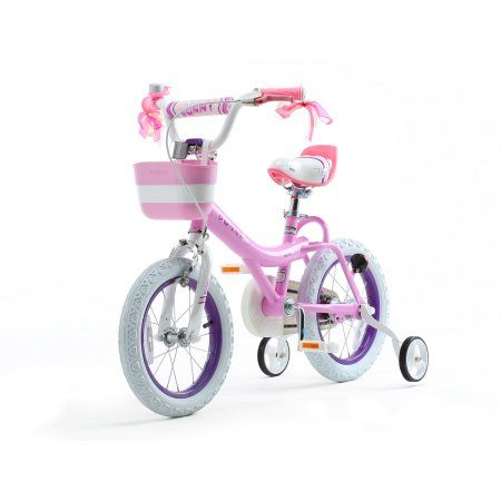 Bunny Girl's Bike, 16 inch Wheels with Basket and Training Wheels, Pink