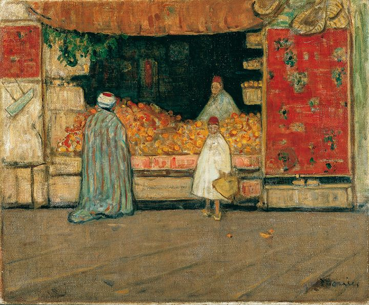 Fruit Market, North Africa (Tunis) - James Wilson Morrice 1914,