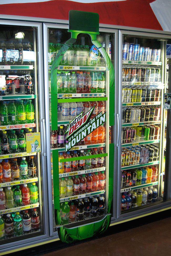 Mountain Dew Cooler Door Bottle