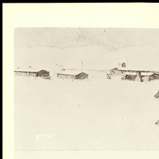 Sketch showing arrival of John (Portugese) Phillips at Horse Shoe Station, Wyoming, with the first news of the massacre of Fetterman's Signal Corps U.S. Army command, at Fort Phil Kearny, 1867, #87715 :: William Henry Jackson