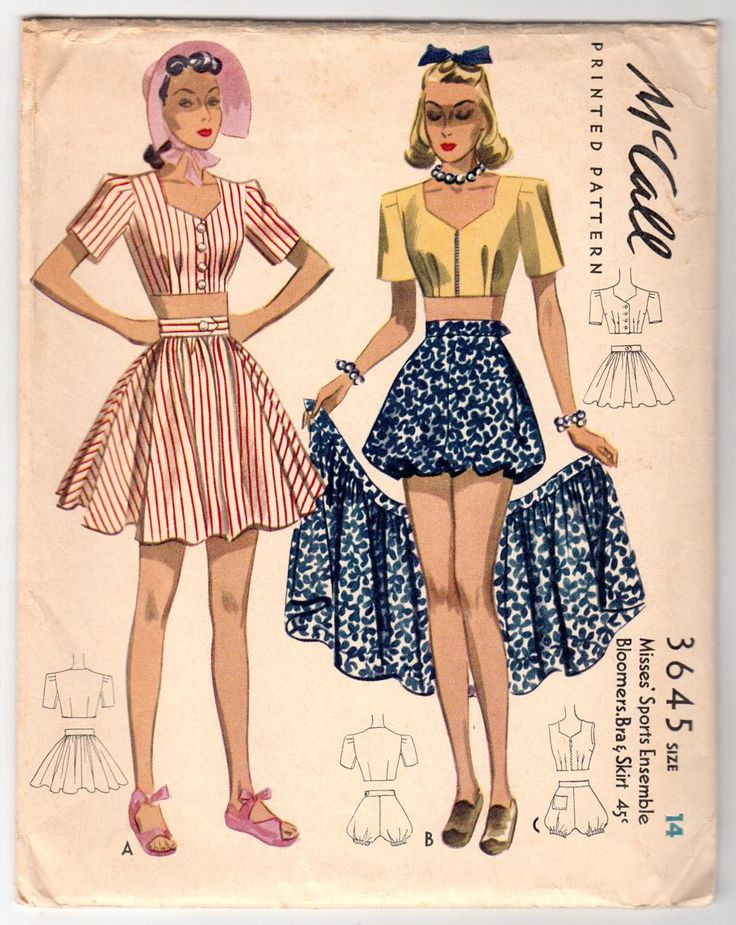 The 203 best I ♡ Vintage Sewing Patterns: Women\'s Sportswear images ...