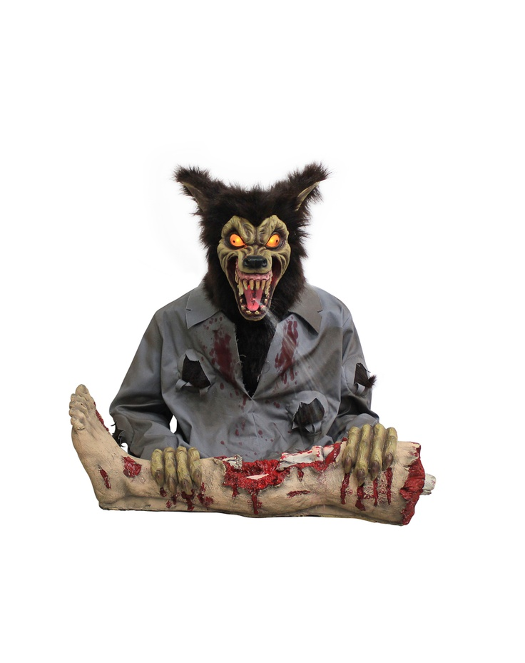 werewolf spitter animated prop bring on halloween im figuring out where to put this already - Spirit Halloween Decorations