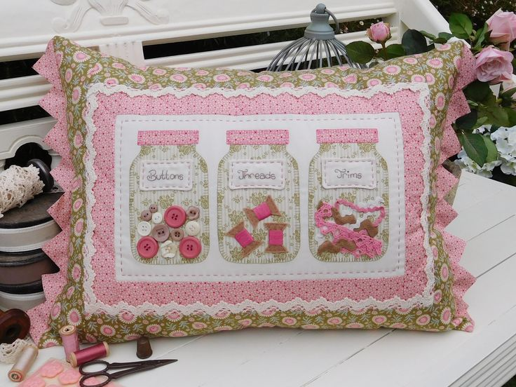 """""""Bits 'n' Bobs"""" by Sally Giblin of The Rivendale Collection. #TheRivendaleCollection stitchery, appliqué and patchwork patterns. www.therivendalecollection.com.au"""