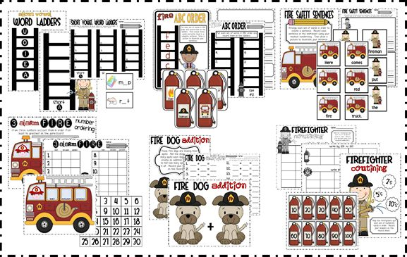 1000 images about community helpers fireman on pinterest for Fire escape plan worksheet