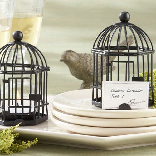 Rustic Birdcage Place Card Holder